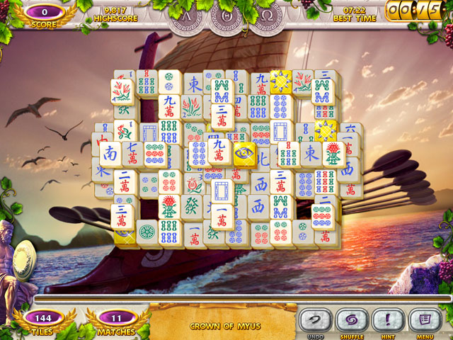 Mahjong Mysteries: Ancient Athena Screenshot 1