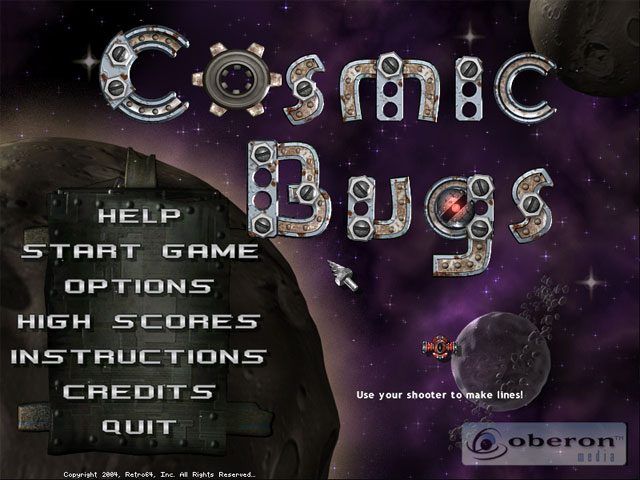 Cosmic Bugs Screenshot 1