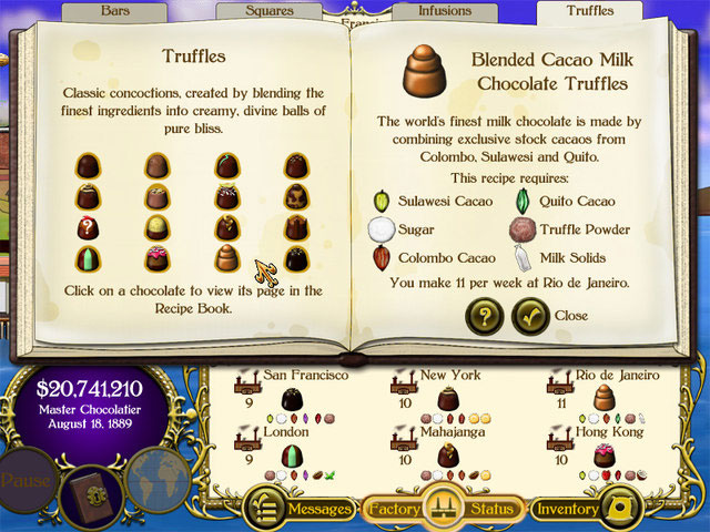 Chocolatier Screenshot 1