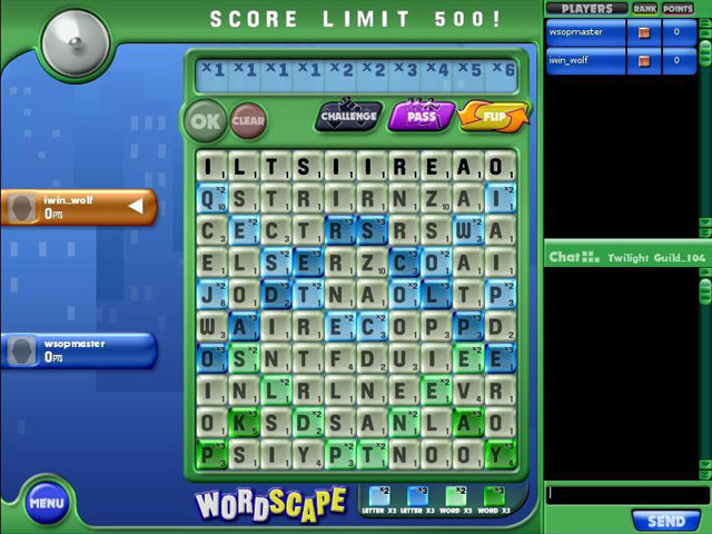 Wordscape Online Party Screenshot 1