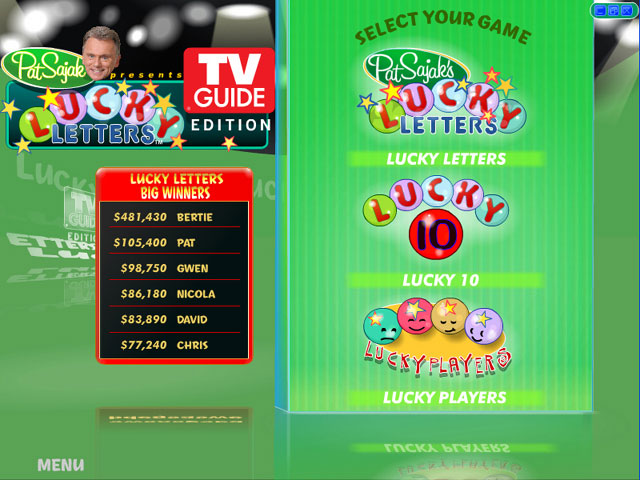Pat Sajak's Lucky Letters TV Guide Edition large screenshot