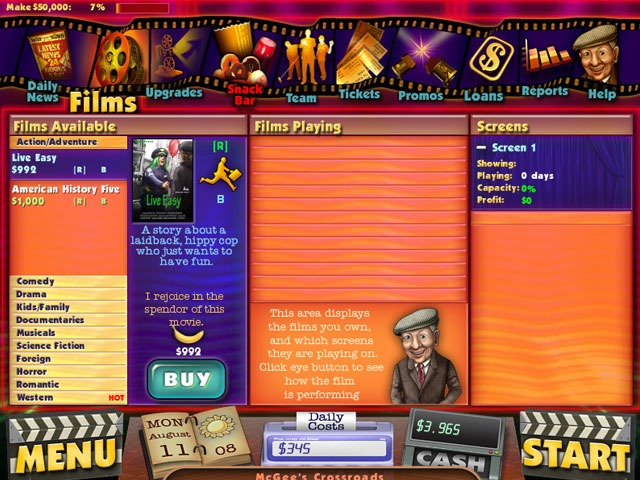Cinema Tycoon 2 large screenshot