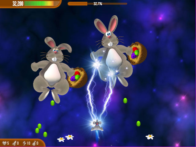 Chicken Invaders 3: Easter Edition Screenshot 1