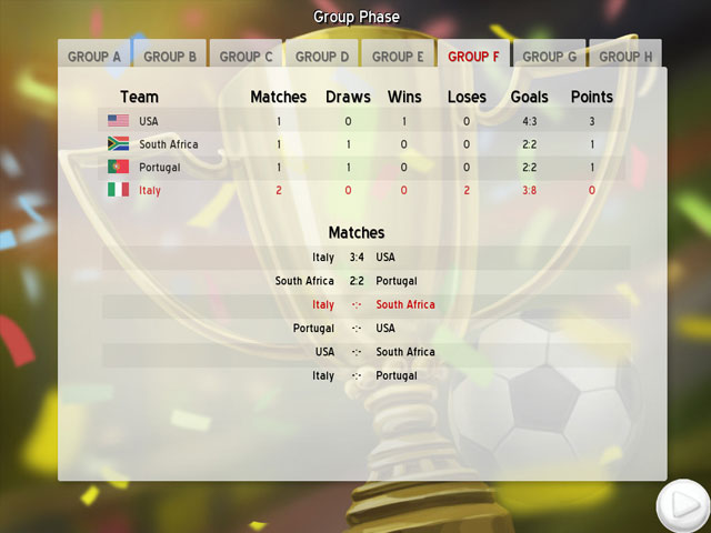 Soccer Cup Solitaire large screenshot