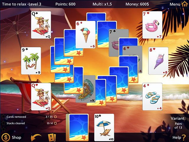Solitaire Holiday Season large screenshot