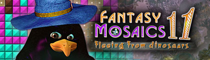 Fantasy Mosaics 11: Fleeing from Dinosaurs screenshot