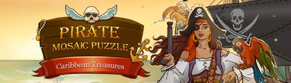Pirate Mosaic Puzzle - Caribbean Treasures screenshot