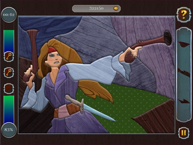 Pirate Mosaic Puzzle - Caribbean Treasures large screenshot