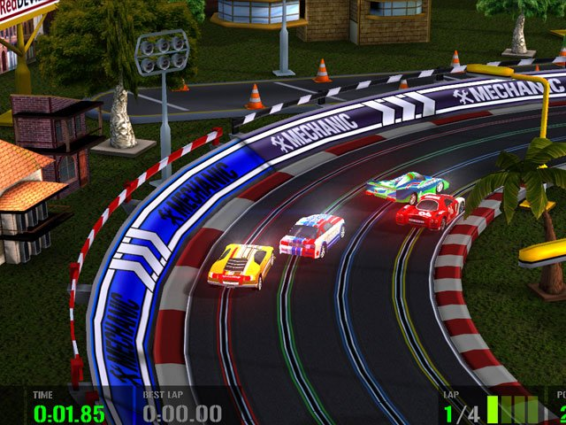 High Tech Racing Slot Car Simulation large screenshot