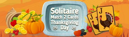 Solitaire - Match 2 Cards - Thanksgiving Day screenshot