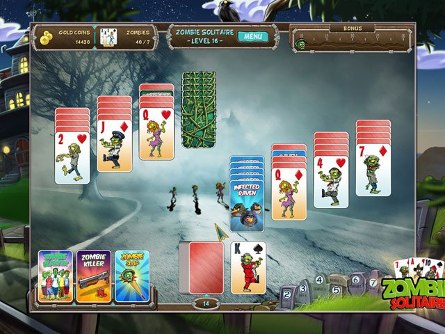 Fish vs Zombies Solitaire Double Pack large screenshot