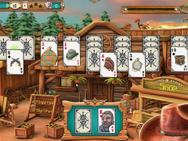 Solitaire Chronicles - Wild Guns large screenshot