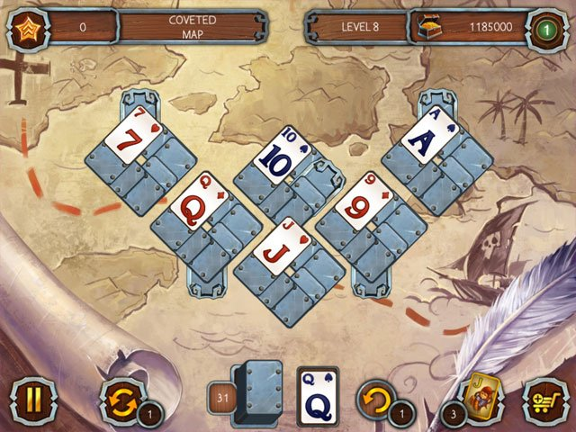 Solitaire Legend of the Pirates large screenshot