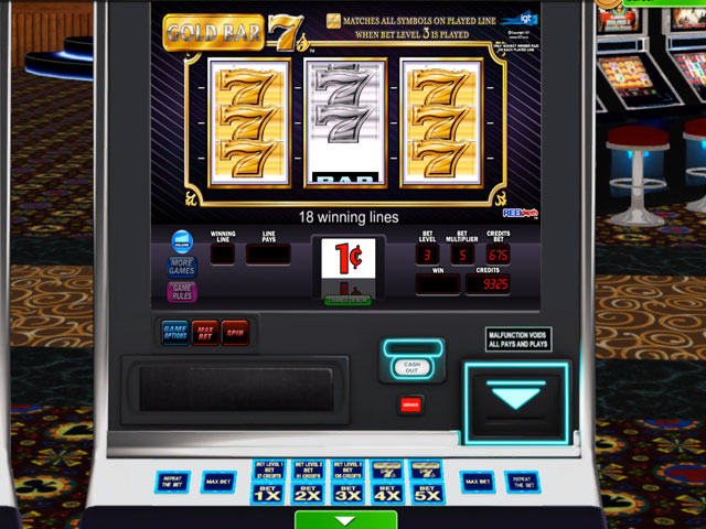 IGT Slots Gold Bar 7's Deluxe large screenshot