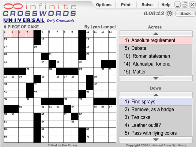 Infinite Crosswords large screenshot