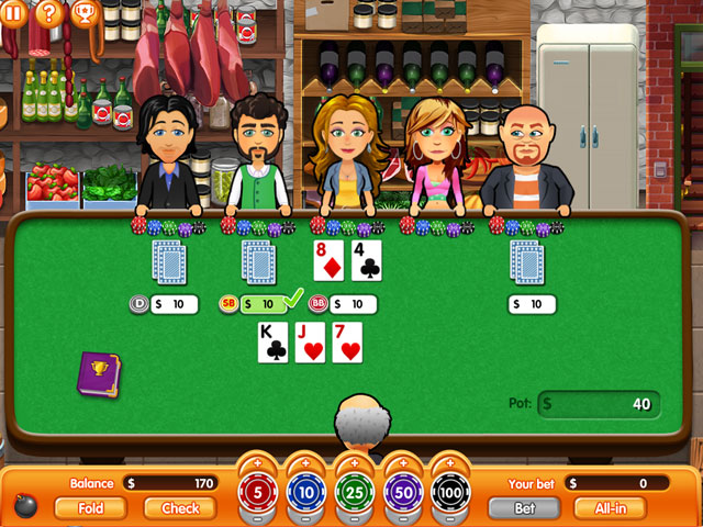 Hometown Poker Hero Solitaire Screen_1