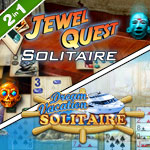 Jewel Quest Solitaire with Dream Vacation Solitaire