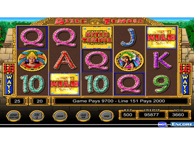 IGT Slots Aztec Temple Screenshot 1