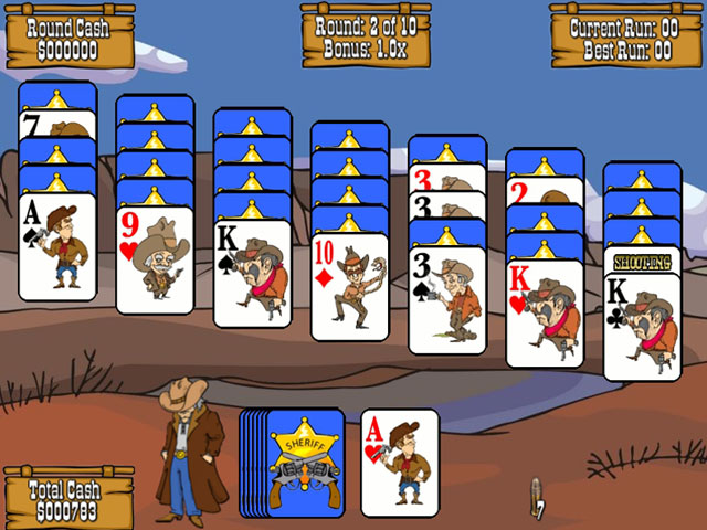 Gunslinger Solitaire large screenshot