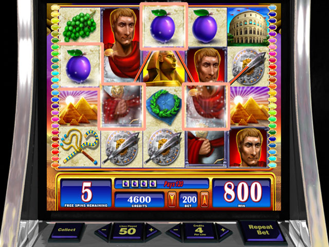 WMS Slots: Rome & Egypt large screenshot