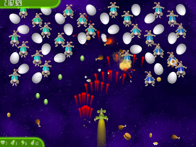 Chicken Invaders 4: Easter Edition Screenshot 1