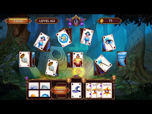 Solitaire. Elemental Wizards large screenshot