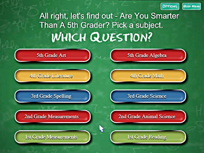 are you smarter than a 5th grader online game free