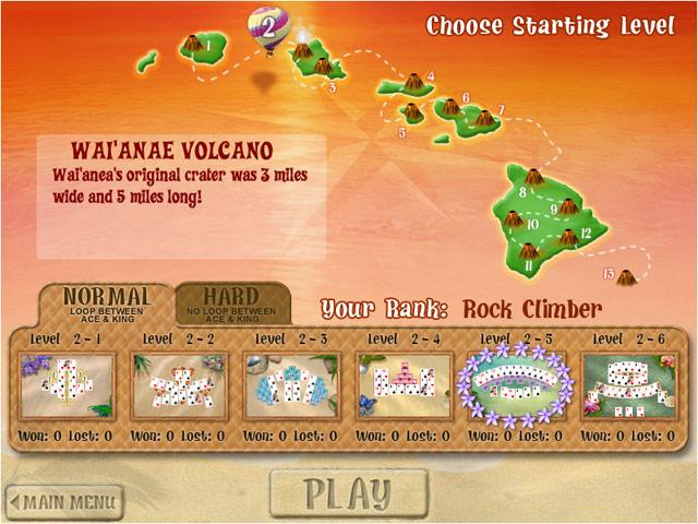 Aloha TriPeaks Screenshot 1