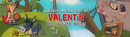 Solitaire Adventures of Valentin the Valiant Viking screenshot