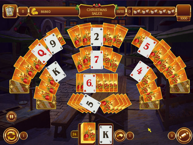Solitaire Game Christmas large screenshot