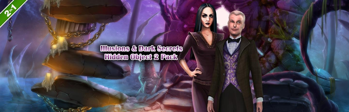 Illusions & Dark Secrets Hidden Object 2 Pack