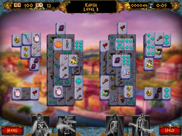 Empires of the Past Mahjong Double Pack large screenshot