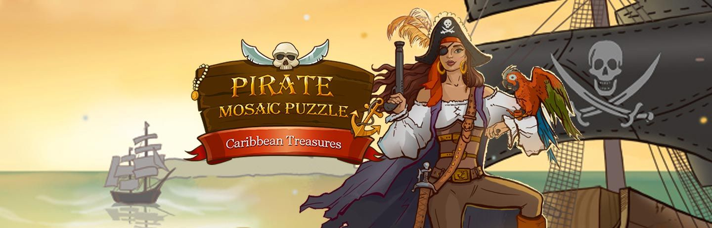Pirate Mosaic Puzzle - Caribbean Treasures