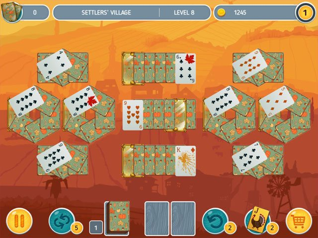 Solitaire - Match 2 Cards - Thanksgiving Day large screenshot