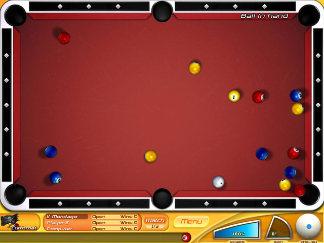 Backspin Billiards large screenshot
