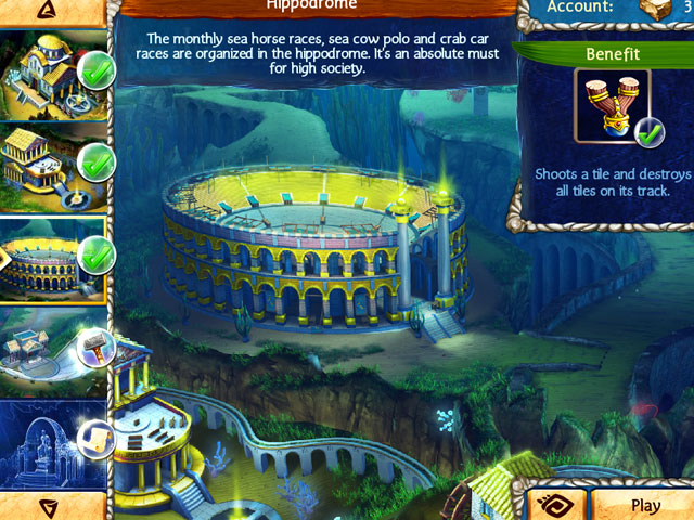 Jewel Legends: Atlantis large screenshot