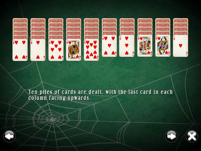 Spider Mania Solitaire large screenshot
