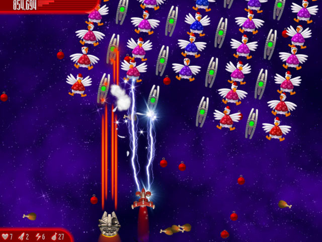 Chicken Invaders 4: Ultimate Omelette Christmas Edition large screenshot